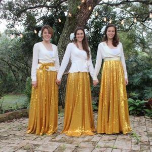 The Princesses Armoire Golden Maxi Circle Skirt
